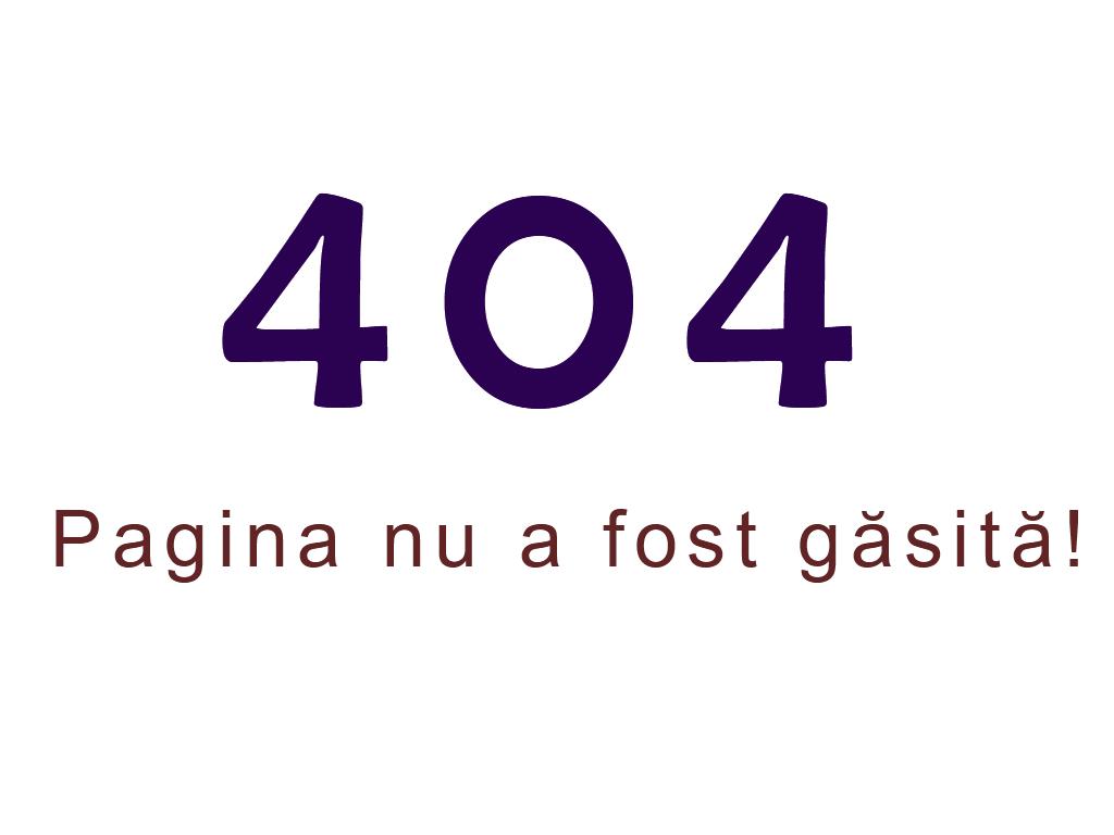 Eroare 404, Pagina nu a exista!